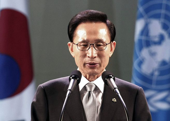 South Korean President Lee Myung-bak (AP Photo/Ahn Young-joon)
