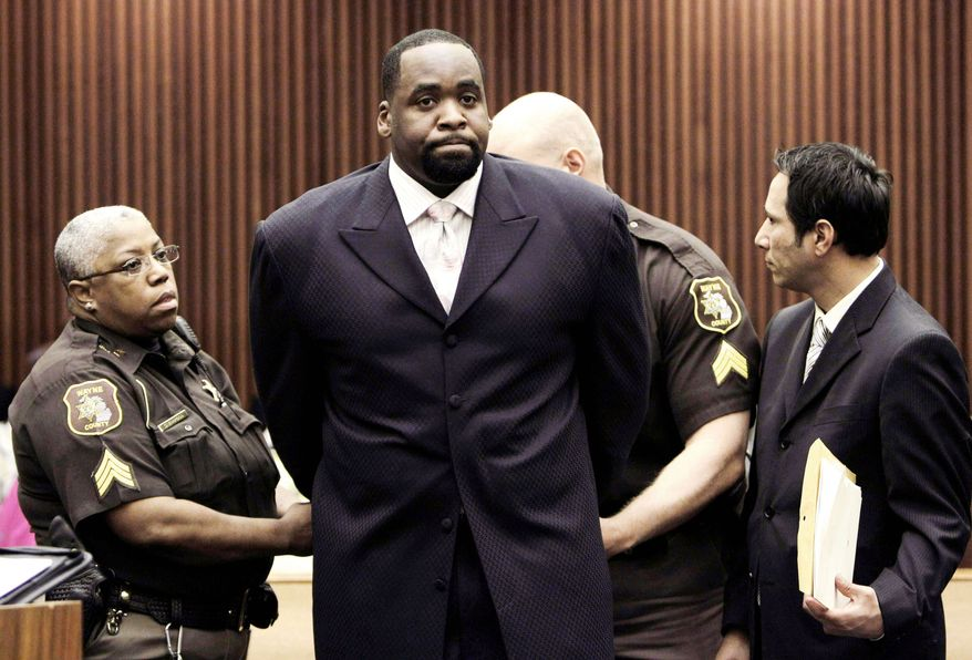 Kwame Kilpatrick was indicted last week on federal fraud and tax charges, accused of turning a charity into a personal slush fund. The 40-year-old former mayor has been in state prison since May for violating probation in a criminal case tied to sexually explicit text messages and an affair with a top aide. (Associated Press)