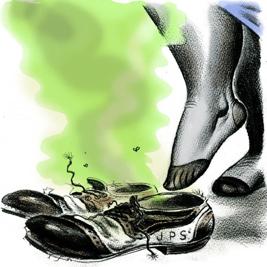 Illustration: Kagan fills Stevens' shoes by Alexander Hunter for The Washington Times
