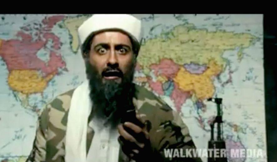 """Tere bin Laden,"" a new tongue-in-cheek comedy from Abhishek Sharma, pokes fun at Osama bin Laden. (Walkwater Media via YouTube)"