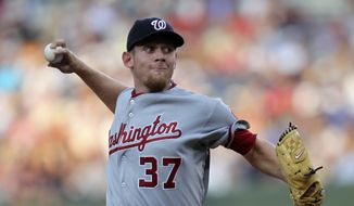 Eleven months after undergoing Tommy John surgery, Washington Nationals starter Stephen Strasburg will make his first minor league rehab appearance Sunday for Hagerstown. (Associated Press)