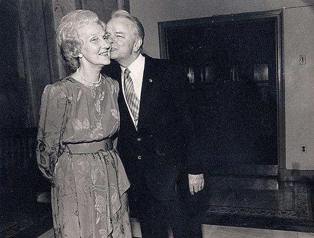 Senator Robert and Erma Byrd on May 28, 1987. ( Shayna Brennan / The Washington Times )