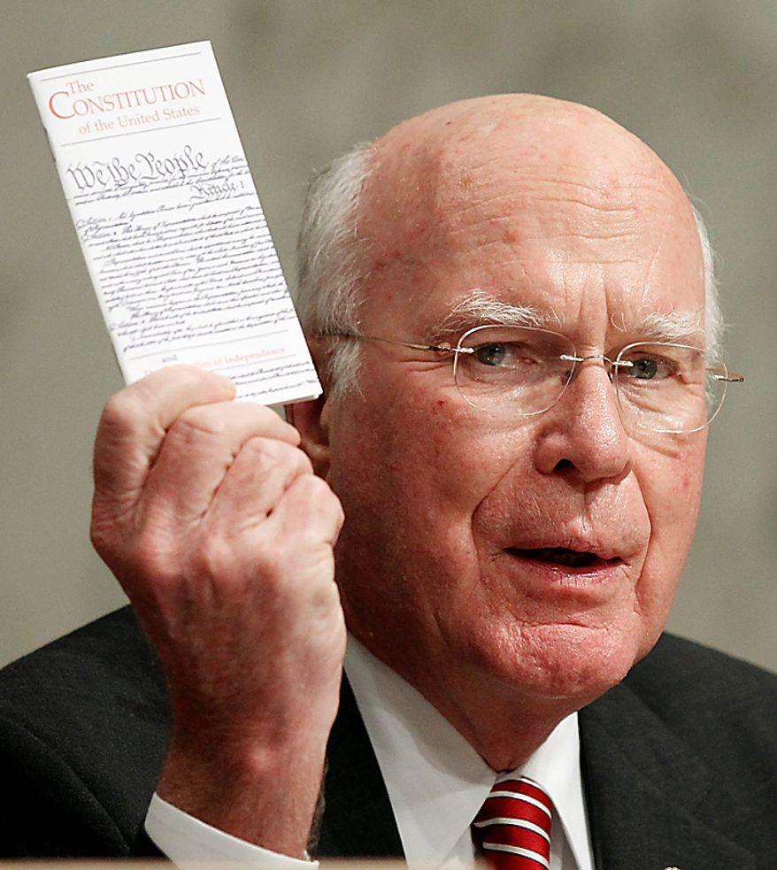 **FILE** Senate Judiciary Committee Chairman Patrick Leahy, Vermont Democrat (Associated Press)