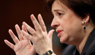 Associated Press photographs Supreme Court nominee Elena Kagan testifies on Capitol Hill in Washington on Tuesday during her confirmation hearing before the Senate Judiciary Committee. Ms. Kagan answered a variety of questions thrown at her by Republican lawmakers.