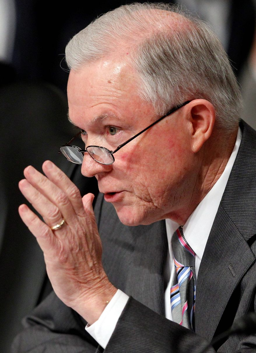 Sen. Jeff Sessions of Alabama, the ranking Republican on the Senate Judiciary Committee, questions Supreme Court nominee Ms. Kagan. Republican lawmakers pressed Ms. Kagan repeatedly over concerns that she would be an activist judge.