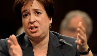 Supreme Court nominee Elena Kagan testifies on Capitol Hill in Washington on Tuesday, June 29, 2010, at the Senate Judiciary Committee hearing on her nomination. (AP Photo/Susan Walsh)