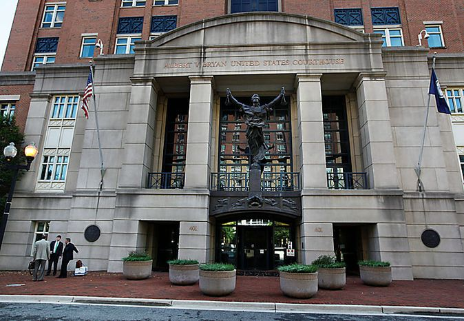 The Albert V. Bryan United States Courthouse in Alexandria. (AP Photo/Manuel Balce Ceneta)