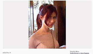 This undated image taken from a Facebook page shows a woman journalists have identified as Anna Chapman, who appeared at a hearing Monday, June 28, 2010 in New York federal court. Chapman, along with 10 others, was arrested on charges of conspiracy to act as an agent of a foreign government without notifying the U.S. attorney general. (AP Photo)