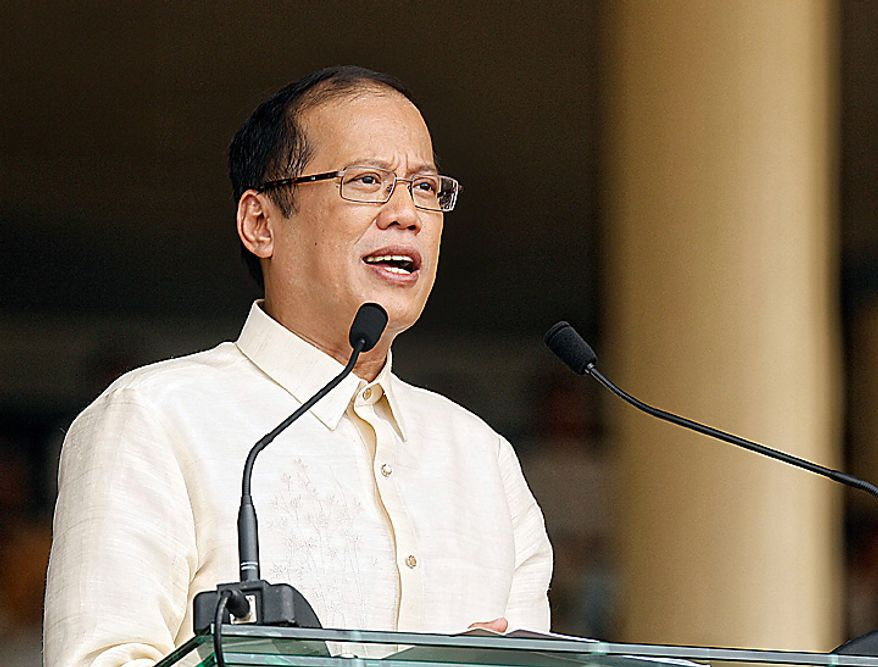 Benigno Aquino, Philippine president, delivers his inaugural speech at Quirino Grandstand in Manila, the Philippines, on Wednesday, June 30, 2010. Aquino, who rose from political outsider to Philippine president in less than a year, takes office today pledging to fight poverty, narrow the budget deficit and refrain from raising taxes in a nation trailing its neighbors in economic growth and international investment. Photographer: Edwin Tuyay/Bloomberg