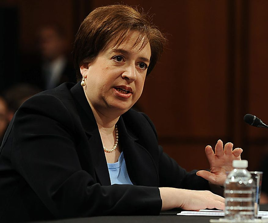 Supreme Court nominee Elena Kagan, President Obama's pick to replace retiring Justice John Paul Stevens, testifies on the third day of her confirmation hearing before the Senate Judiciary Committee on Capitol Hill in Washington on June 30, 2010.    UPI/Roger L. Wollenberg