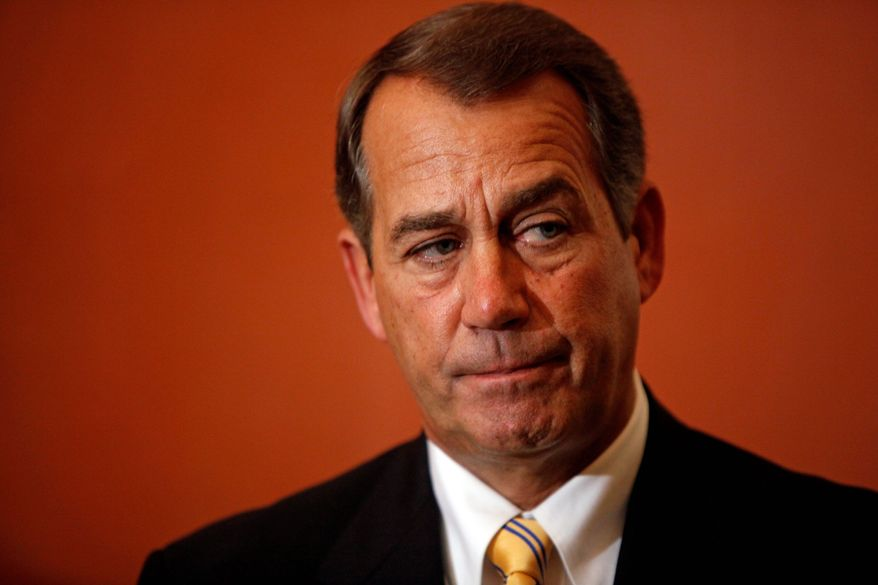 House Minority Leader John A. Boehner, Ohio Republican (AP Photo)