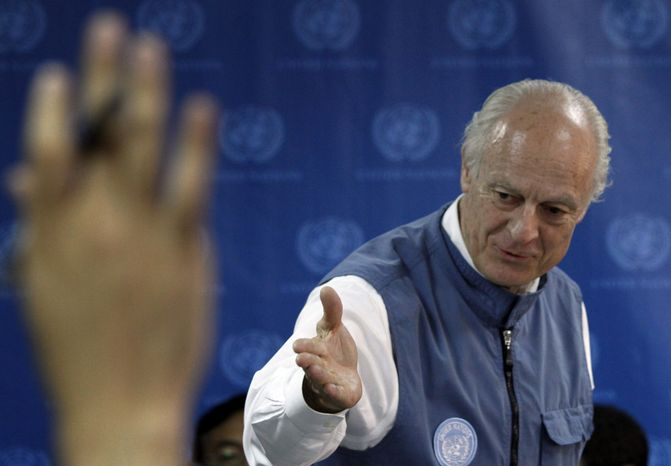 ASSOCIATED PRESS U.N. special representative in Afghanistan Staffan de Mistura invites questions during a press conference in Kabul, Afghanistan, Thursday, June 24, 2010. A delegation of 15 members from the U.N. Security Council visited Afghanistan to meet with high-ranking officials, including Afghan President Hamid Karzai.