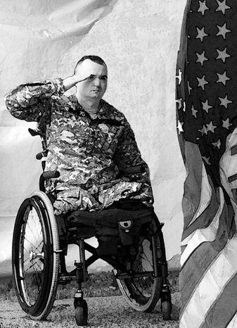 Illustration: Injured veteran