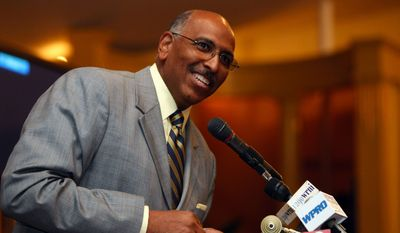Republican National Committee Chairman Michael Steele speaks at the Rhode Island Republican Party Convention on Wednesday, June 30, 2010 in Cranston, R.I. (AP Photo/Joe Giblin)