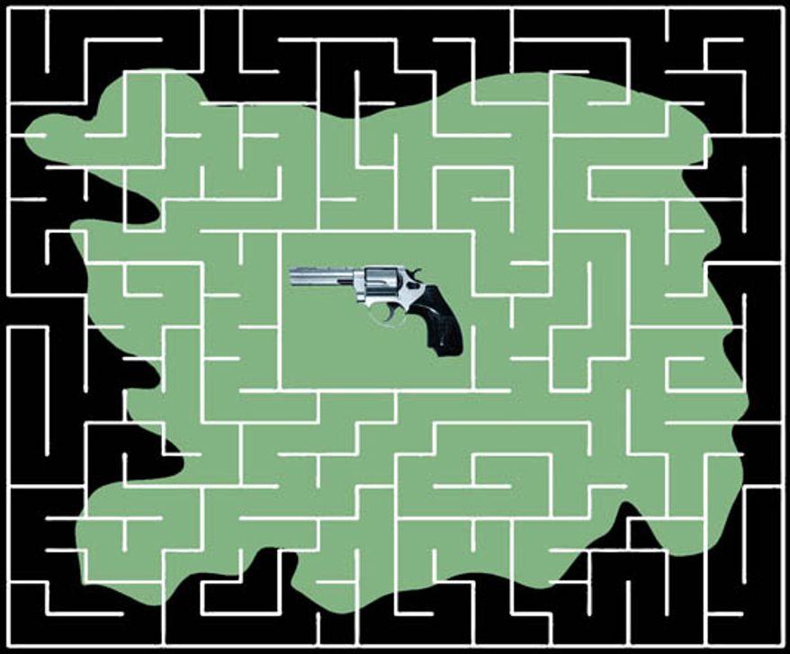 Illustration: Gun maze