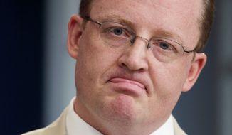 ** FILE ** Former White House press secretary Robert Gibbs. (Associated Press)