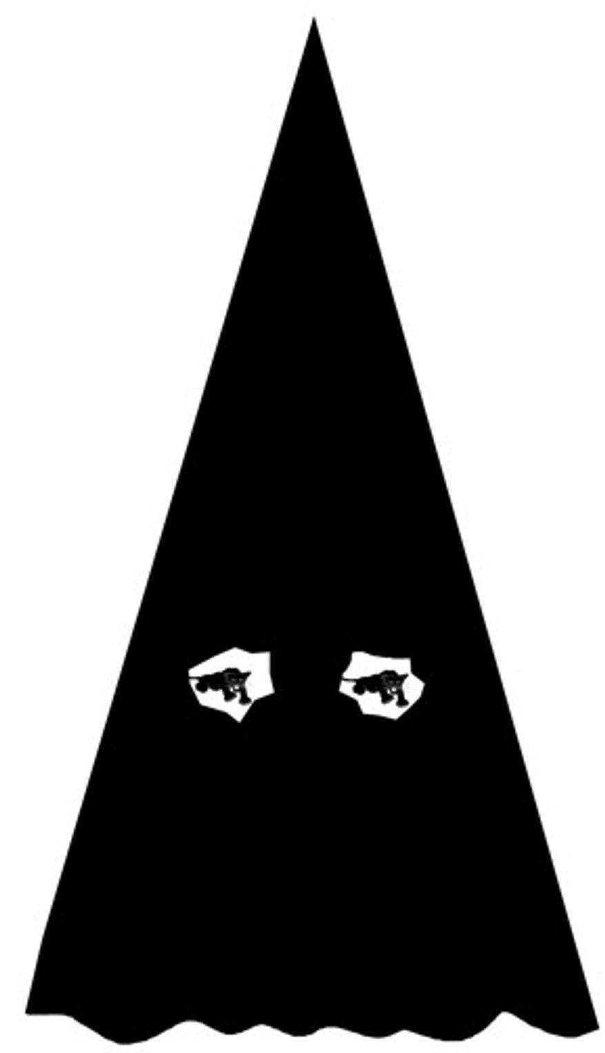 Illustration: Black Panther Klan by Alexander Hunter for The Washington Times