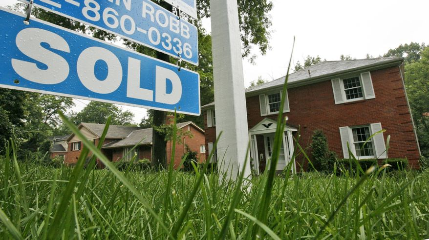 In this photo taken June 8, 2010, a home that sold in Mt. Lebanon, Pa., is shown. Mortgage finance company Freddie Mac says the average rate rose to 4.75 percent, up from 4.72 percent last week. (AP Photo/Gene J. Puskar)
