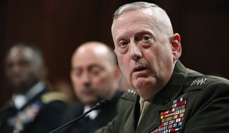 In this March 9, 2010, file photo, Gen. James N. Mattis testifies on Capitol Hill in Washington. Defense Secretary Robert Gates says he wants Gen. Mattis to take over U.S. Central Command, replacing Gen. David Petraeus. (AP Photo/Manuel Balce Ceneta, File)