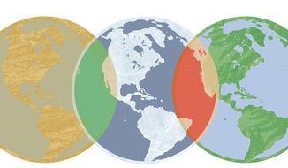 Illustration: Global warming by Linas Garsys for The Washington Times