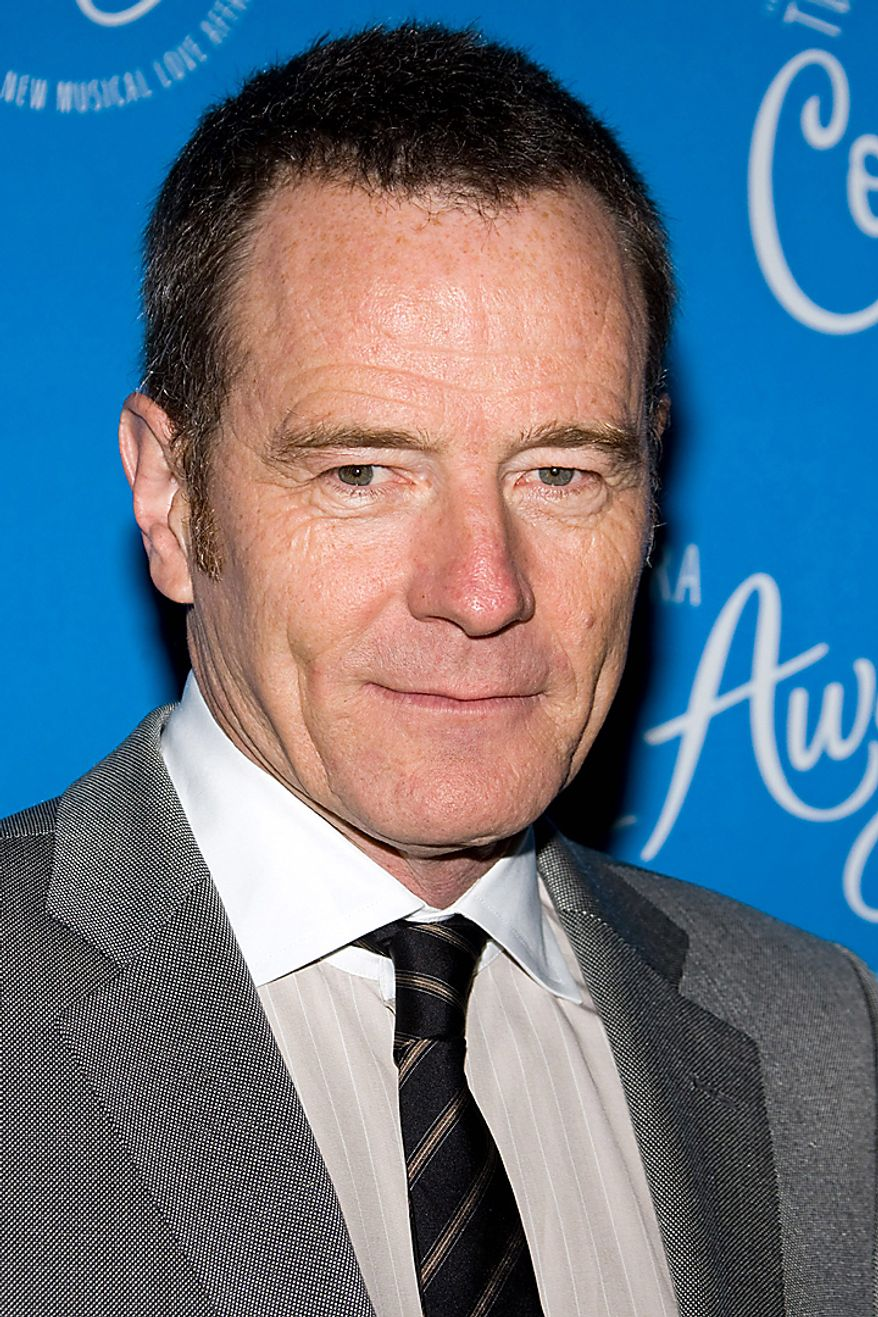 "In this March 25, 2010, file photo, actor Bryan Cranston arrives at the opening night performance of the Broadway musical ""Come Fly Away"" in New York. Cranston was nominated for an Emmy for best actor in a drama series on Thursday, July 8, 2010, for his role in ""Breaking Bad.""  The 62nd Primetime Emmy Awards will be held on Sunday, Aug. 29, in Los Angeles. (AP Photo/Charles Sykes, file)"