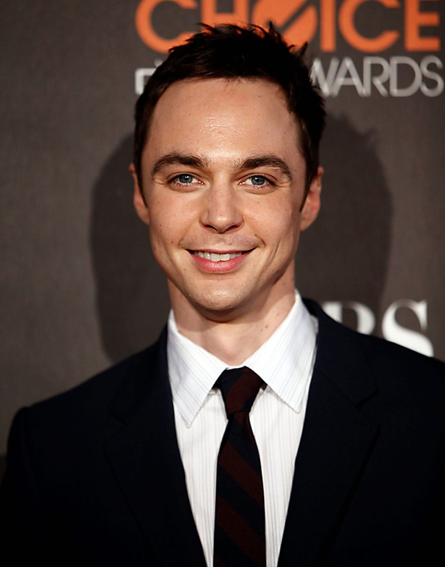 """In this Jan. 6, 2010, file photo, actor Jim Parsons arrives at the People's Choice Awards in Los Angeles. Parsons was nominated for an Emmy award for best actor in a comedy series on Thursday, July 8, 2010, for his role in """"The Big Bang Theory.""""  The 62nd Primetime Emmy Awards will be held on Sunday, Aug. 29, in Los Angeles. (AP Photo/Matt Sayles, file)"""