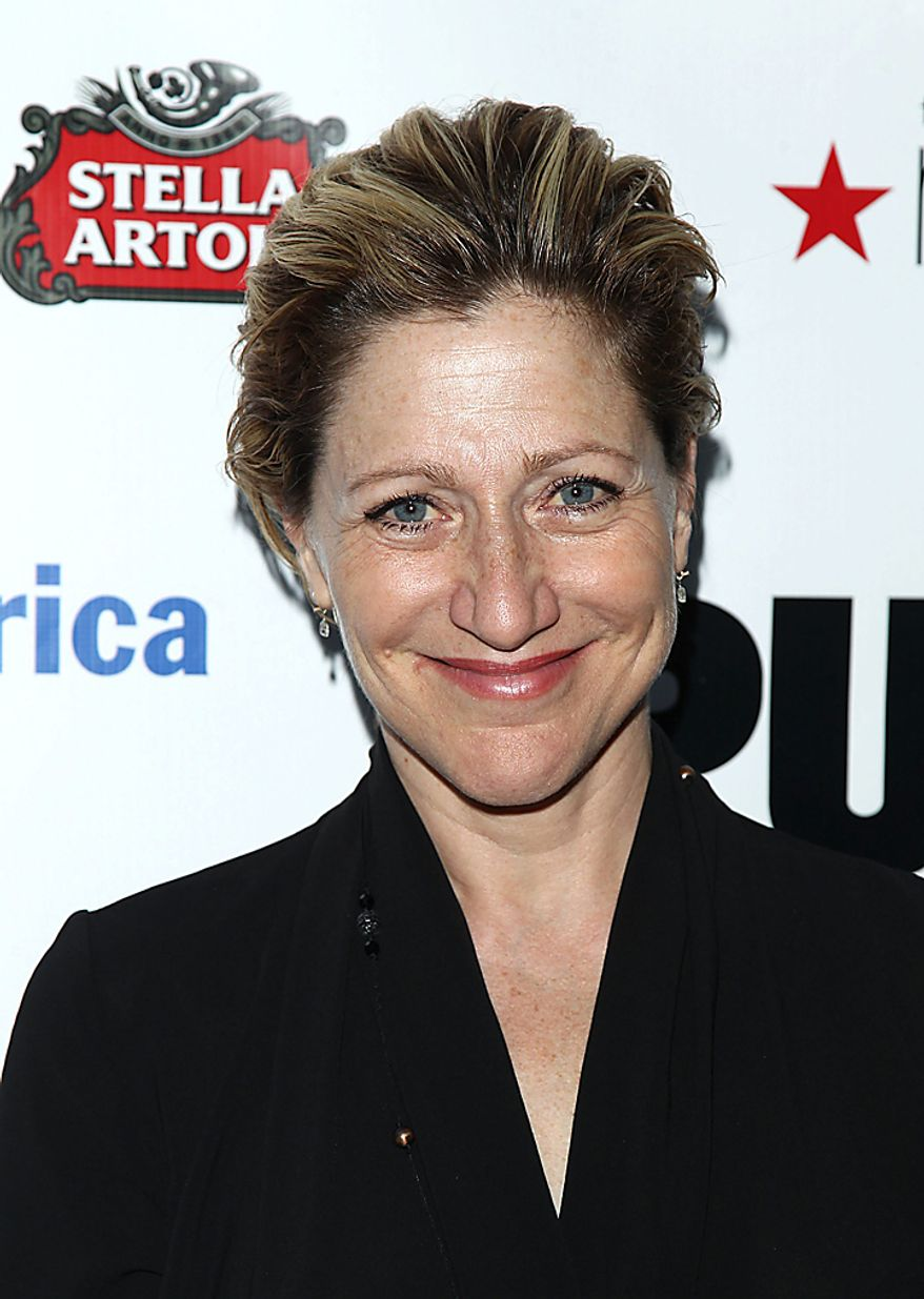 "In this June 21, 2010, file photo, actress Edie Falco attends the Public Theater Annual Gala featuring a performance of ""The Merchant of Venice"" in New York. Falco was nominated for an Emmy for best actress in a comedy series on Thursday, July 8, 2010, for her role in ""Nurse Jackie."" The 62nd Primetime Emmy Awards will be held on Sunday, Aug. 29, in Los Angeles. (AP Photo/Peter Kramer, file)"