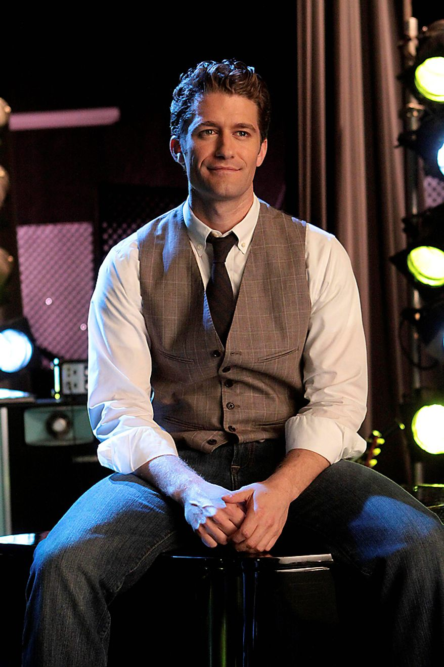 """""""Glee"""" star Matthew Morrison is nominated for an Emmy as lead actor in a comedy series. The 62nd Primetime Emmy Awards will be held on Sunday, Aug. 29. (AP Photo/Fox, Carin Baer)"""