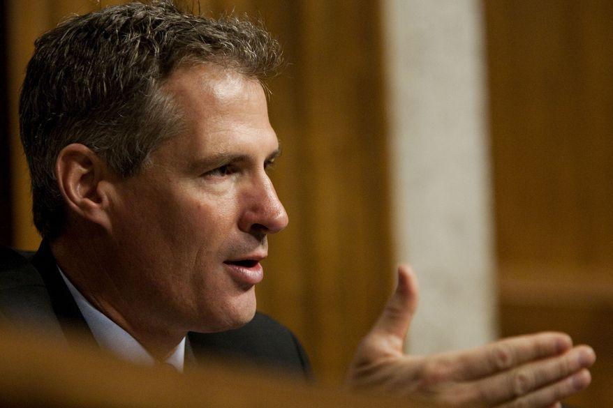 Sen. Scott Brown, Massachusetts Republican (AP Photo/Drew Angerer)