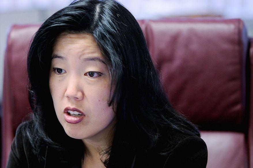 ** FILE ** Former D.C. Schools Chancellor Michelle Rhee (The Washington Times)