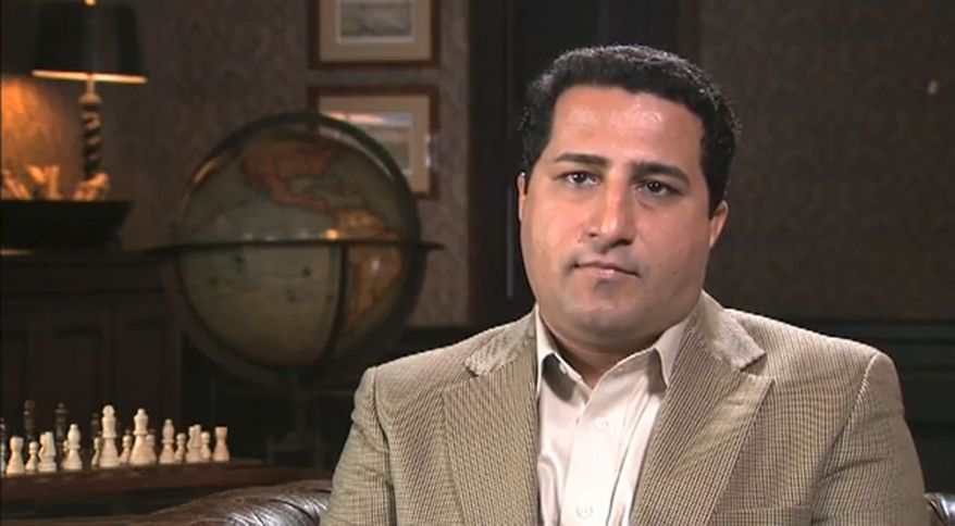 **FILE** This frame grab image taken from a video posted on YouTube and which appeared on Iranian television on June 7, 2010, shows a man whom Iranian broadcasters identified as Iranian nuclear scientist Shahram Amiri. (Associated Press)