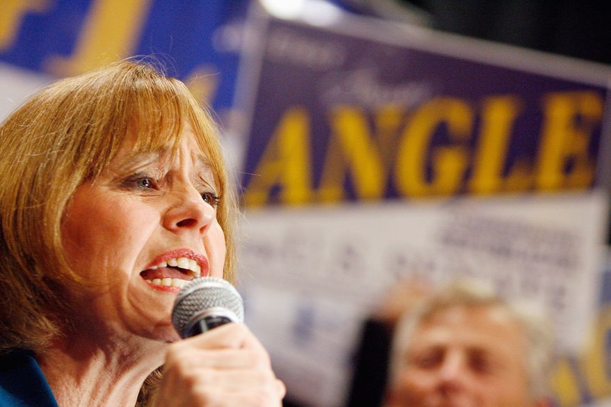 ASSOCIATED PRESS Senate candidate Sharron Angle, who is leading her Democratic opponent in Nevada, Majority Leader Harry Reid, wishes death on her opponents, according to a Democratic Party spokesman who has stirred up a heated defense.