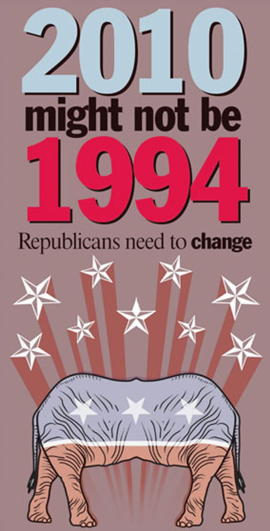 Illustration: Republican change needed by Linas Garsys for The Washington Times