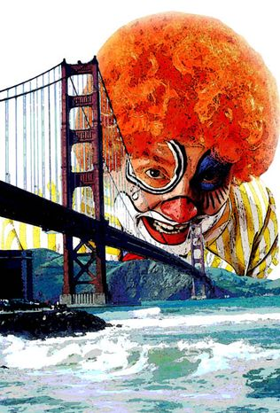 Illustration: San Francisco bozo by Greg Groesch for The Washington Times