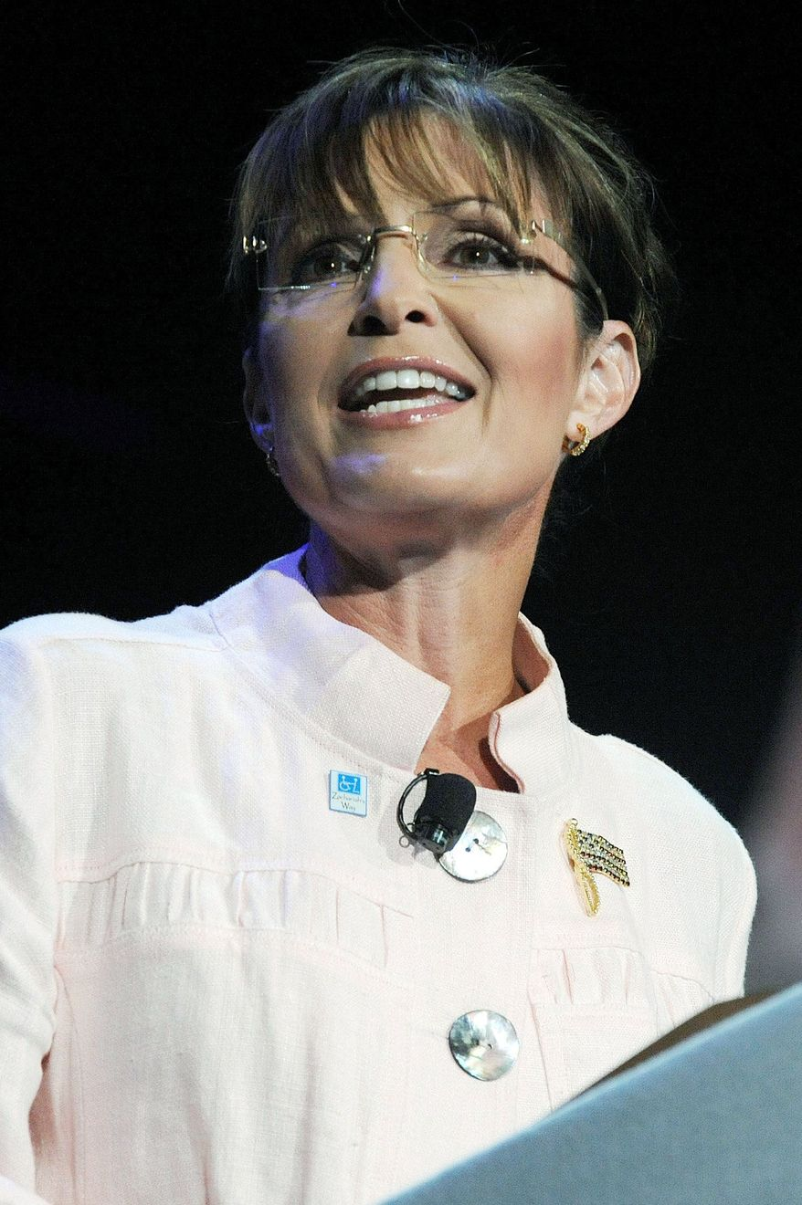 "Associated Press BEARING DOWN: Former Alaska Gov. Sarah Palin has endorsed the opponent of fellow ""grizzly mama"" Sen. Lisa Murkowski."