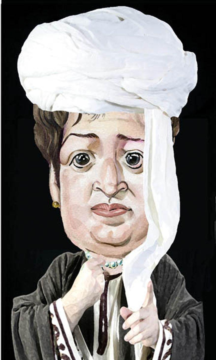 Illustration: Elena Kagan and Sharia