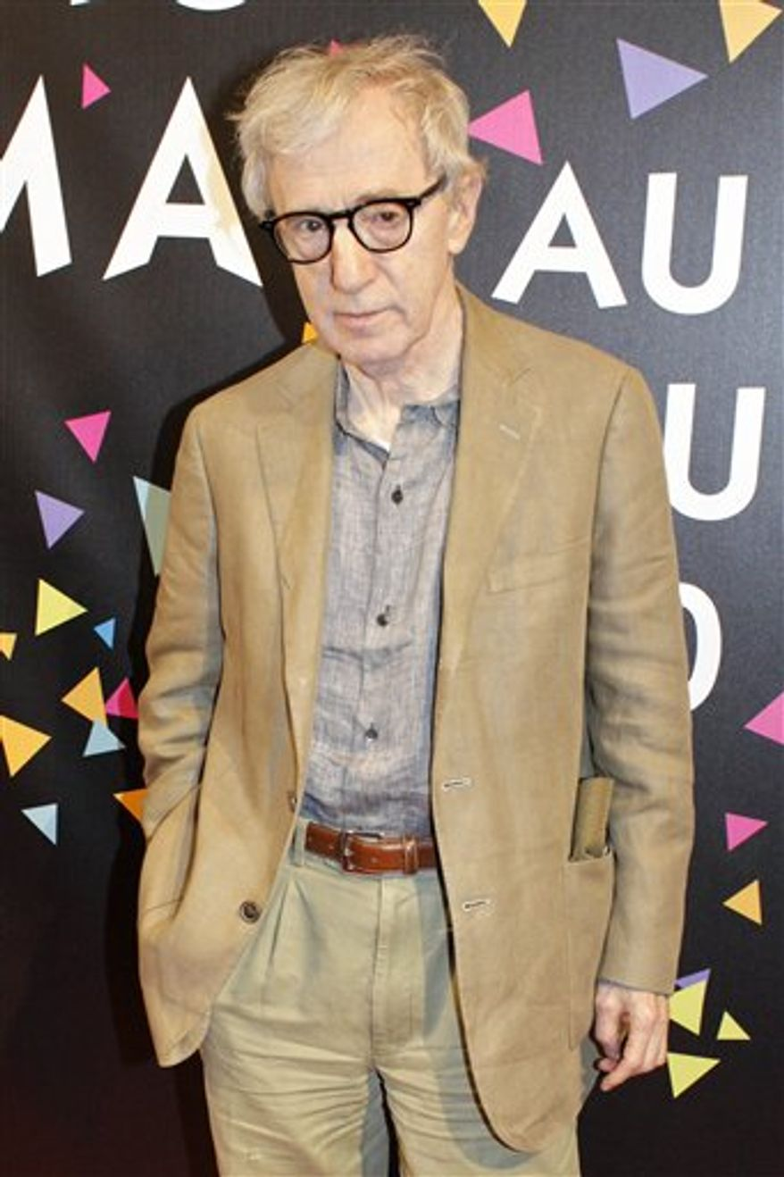 FILE - In this July 1, 2010 file photo, U.S. filmmaker Woody Allen poses during the photocall of the film festival of Paris, in Paris. (AP Photo/Thibault Camus, file)