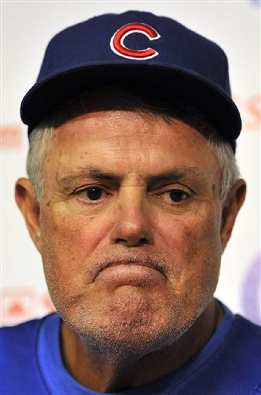 Chicago Cubs manager Lou Piniella (AP Photo/Jim Prisching)
