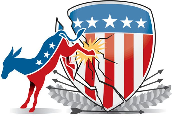 Illustration: Dangerous Democrats by Linas Garsys for The Washington Times