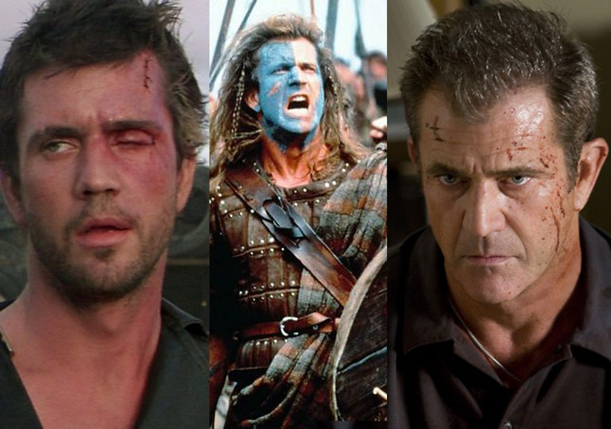 "Mel Gibson stars in ""Mad Max,"" ""Braveheart"" and ""Edge of Darkness."""