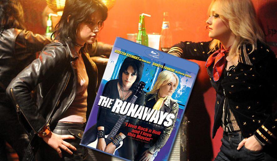 "Kristin Stewart and Dakota Fanning star in ""The Runaways,"" now on Blu-ray."