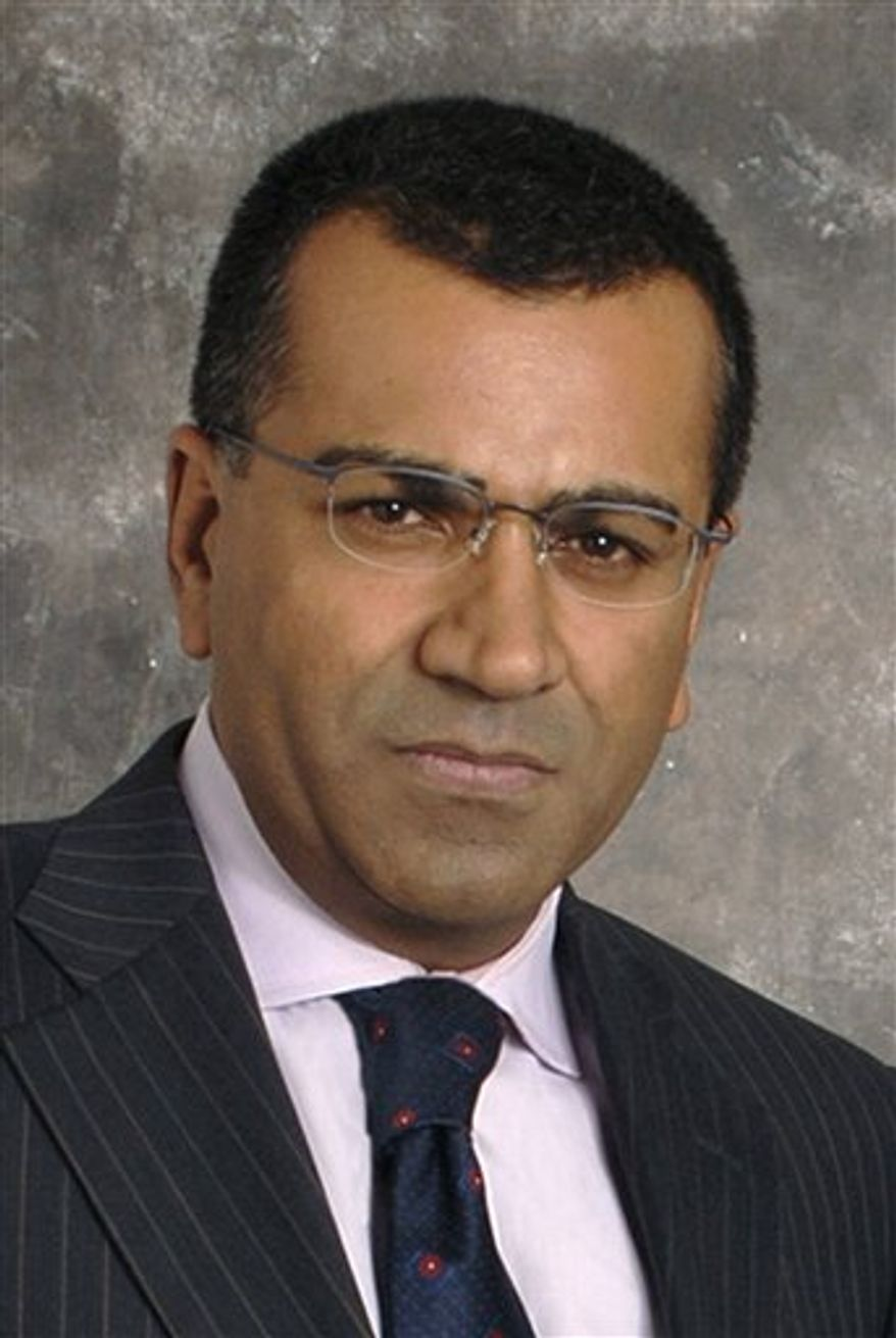 "FILE - In this undated publicity released by ABC-TV, Martin Bashir, co-anchor of ""Nightline,"" Martin Bashir is shown. (AP Photo/ABC, DONNA SVENNEVIK, file)"