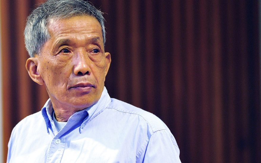 "Kaing Guek Eav, aka Duch, is the first senior Khmer Rouge leader ever to be convicted. He ran a top-secret detention center for the state's worst ""enemies."" (Extraordinary Chambers in the courts of Cambodia via Associated Press)"