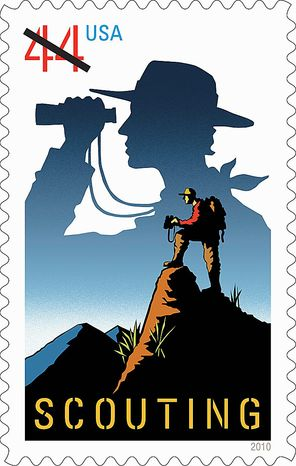 The U.S. Postal Service in 2010 issued a 44-cent first-class stamp honoring the 100th anniversary of the founding of the Boy Scouts of America. (AP Photo/U.S. Postal Service)
