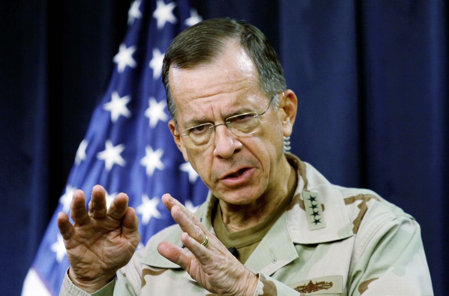 """""""There is a real potential threat there to put American lives at risk,"""" says Adm. Mike Mullen, chairman of the Joint Chiefs of Staff, about the leak of a database of field reports from Afghanistan. (Associated Press)"""