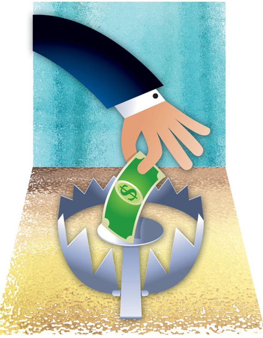 Illustration: Dollar trap