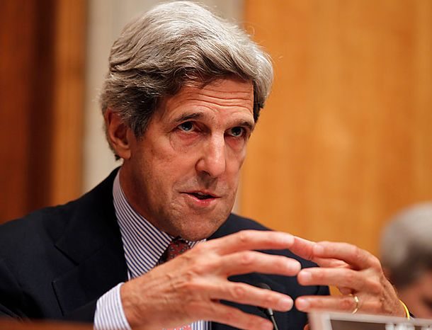 Senate Foreign Relations Committee Chairman Sen. John Kerry, D-Mass., speaks on Capitol Hill in Washington Tuesday, July 27, 2010, during the committee's hearing on Afghanistan. (AP Photo/Alex Brandon)