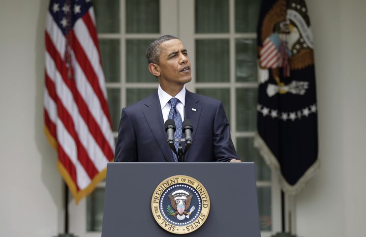 President Obama makes an appeal for bipartisanship on his legislative agenda on Tuesday, July 27, 2010, during a statement in the Rose Garden of the White House in Washington. (AP Photo/J. Scott Applewhite)