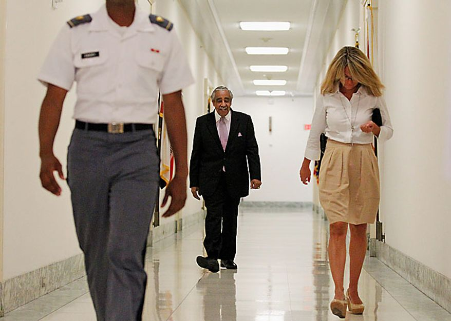 Rep. Charles Rangel, D-N.Y., walks down the hall to his office on Capitol Hill in Washington, Thursday, July 29, 2010. (AP Photo/Alex Brandon)