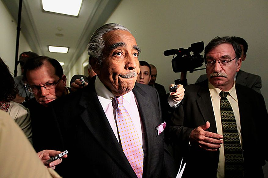 Rep. Charles Rangel, D-N.Y., leaves his office to go to a vote on Capitol Hill in Washington, Thursday, July 29, 2010. (AP Photo/Alex Brandon)